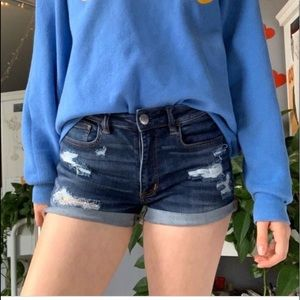 American Eagle Distressed High Rise Shorts 10